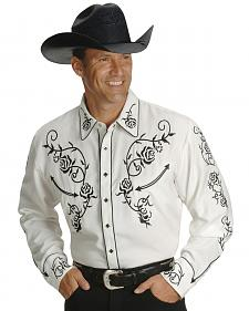 Scully Floral Embroidered Vintage Western Shirt - Big & Tall