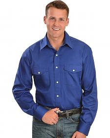 Exclusive Gibson Trading Co. Blue Western Shirt - Tall