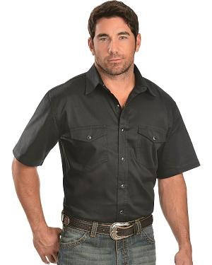 Exclusive Gibson Trading Co. Black Solid Twill Western Shirt - Tall