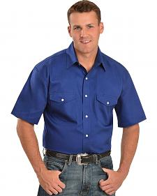 Exclusive Gibson Trading Co. Royal Blue Western Shirt - Tall