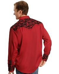 Scully Embroidered Retro Western Shirt - Big at Sheplers