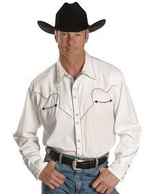 Scully White Retro Western Shirt - Big