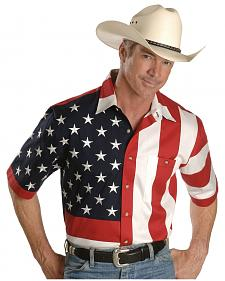 Rangewear by Scully USA Flag Western Shirt - Big