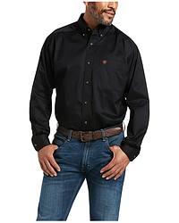 Ariat Black Twill Cowboy Shirt - Big & Tall at Sheplers