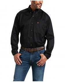 Ariat Black Twill Cowboy Shirt - Big & Tall