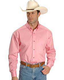 Ariat Pink Twill Cowboy Shirt - Big & Tall