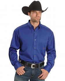 Ariat Blue Twill Oxford Shirt - Big & Tall