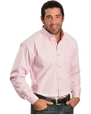 Ariat Pink Balin Stripe Long Sleeve Shirt - Big & Tall