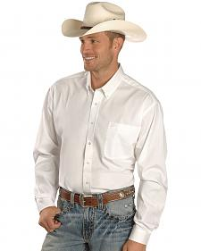 Cinch � Solid Weave White Shirt - Big & Tall