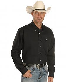 Cinch � Solid Weave Black Shirt - Big & Tall