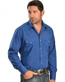 Ely Cattleman Men's Liberty Blue Classic Western Shirt - Big & Tall