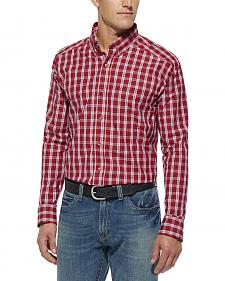 Ariat Red Plaid Kostas Performance Shirt - Big and Tall