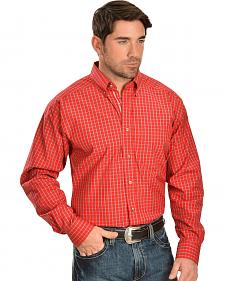 Ariat Red Plaid Kit Performance Shirt - Big and Tall