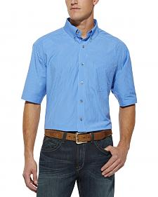 Ariat Vernon Blue Plaid Shirt - Big & Tall