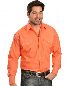 Ely Men's Classic Western Orange Shirt - Big & Tall