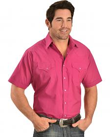 Ely Cattleman Classic Pink Western Shirt - Big and Tall