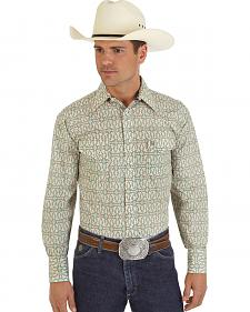 George Strait Collection Khaki and White Shirt - Big & Tall