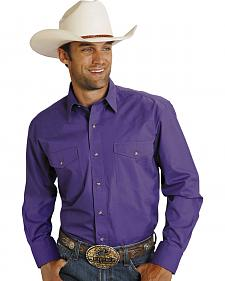 Roper Purple Poplin Western Shirt