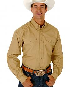 Roper Poplin Western Shirt - Big & Tall