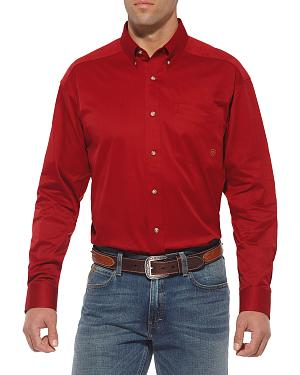 Ariat Red Twill Cowboy Shirt - Big & Tall