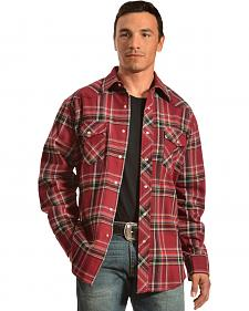 Wrangler Men's Red Plaid Flannel Shirt - Big & Tall