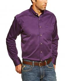 Ariat Solid Twill Orchid Long Sleeve Shirt - Big and Tall