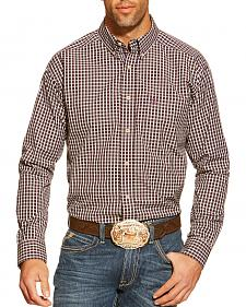 Ariat Mason Purple Plaid Long Sleeve Shirt - Big and Tall