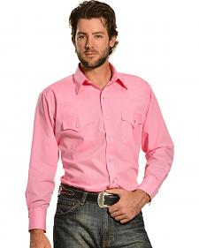 Ely Cattleman Men's Pink Classic Western Shirt - Tall