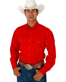 Roper Men's Solid Twill Western Shirt