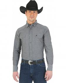Wrangler George Strait Troubadour Black Diamond Print Western Shirt - Big and Tall