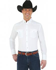 George Strait Troubadour Collection White Western Shirt - Big and Tall