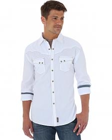 Wrangler Men's Retro Solid White Shirt - Tall