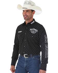 Wrangler Men's Jack Daniel's Print Logo Shirt - Tall