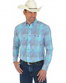 Wrangler George Strait One Pocket Plaid Shirt - Tall