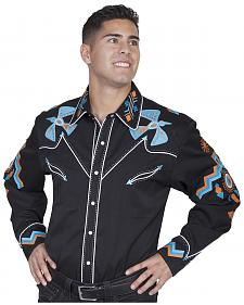 Scully Western Phoenix Shirt - Big Sizes (3XL - 4XL)