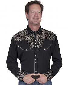 Scully Embroidered Scroll Western Shirt - Big Sizes (3XL and 4XL)