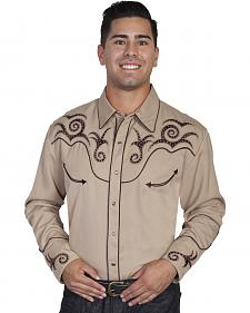 Scully Scroll Studded Western Shirt - Big Sizes (3XL - 4XL)