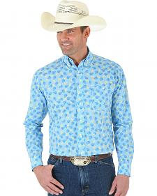 Wrangler George Strait One Pocket Paisley Poplin Shirt