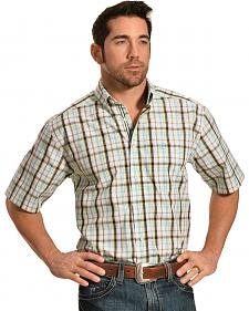 Ariat Men's Performance Fitted Fabio Plaid Short Sleeve Shirt - Big & Tall
