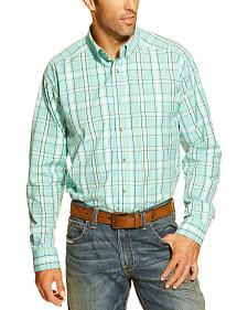 Ariat Men's Falkirk Plaid Button Long Sleeve Shirt - Big & Tall