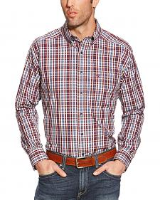 Ariat Patterson Plaid Performance Long Sleeve Shirt - Big & Tall
