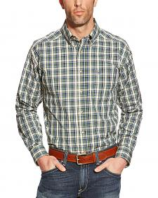 Ariat Porter Plaid Performance Long Sleeve Shirt - Big & Tall
