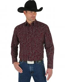 Wrangler George Strait Men's Troubadour Printed Shirt - Big & Tall