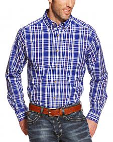 Ariat Men's Blue Plaid Pro Series Rochester Performance Shirt - Big & Tall