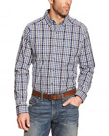 Ariat Men's Blue Plaid Pro Series Jepson Performance Shirt - Big & Tall