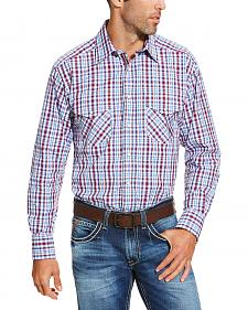 Ariat Men's Red Austin Shirt - Big and Tall