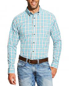 Ariat Men's Turquoise Emmett Shirt - Big and Tall