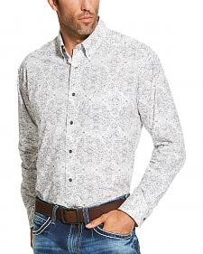 Ariat Men's Grey Firman Print Shirt - Big and Tall