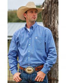 Cinch Men's Royal Blue Geo Print Western Shirt - Big and Tall