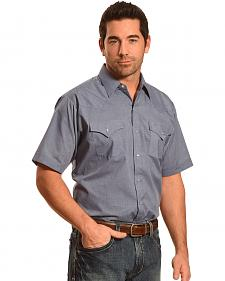 Ely Cattleman Button Up Solid Short Sleeve Shirt - Big and Tall